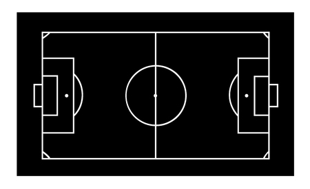 Line of football field or soccer field background. Vector transparent object 10 eps.
