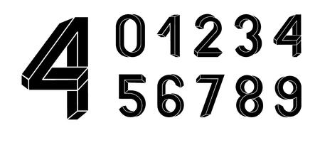 Onmogelijke geometrie letters. Onmogelijke vorm lettertype. Laag poly 3D-personages. Geometrisch lettertype. Isometrische afbeeldingen 3d abc. Vector Illustratie