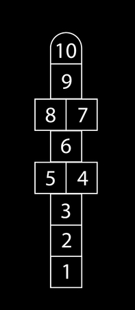 Drawing of a Hopscotch court or game, vector game