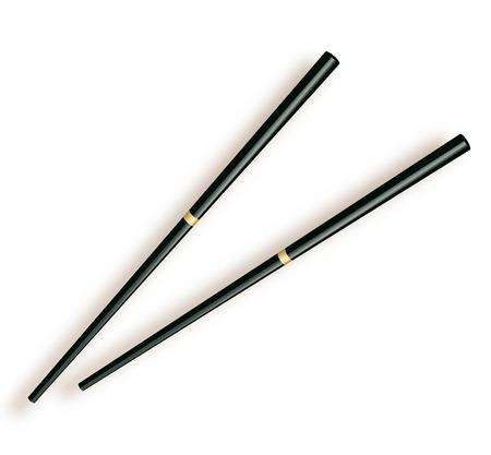 Chopsticks. Wooden chopsticks isolated on white background.