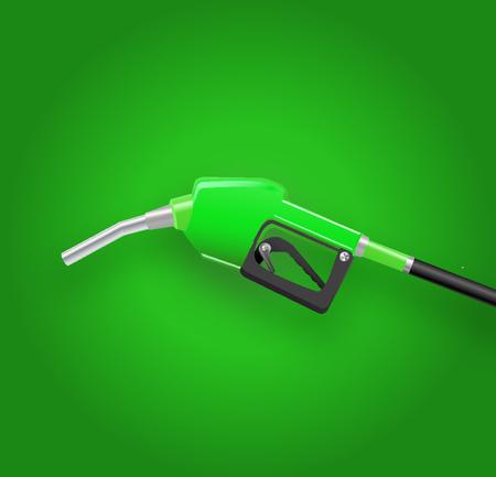 Filling gun. gas refueling nozzle, gasoline pump 3d render. Fuel vector illustration.