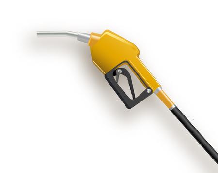 Distributeur de carburant dans un style 3D simple. Illustration vectorielle isolée sur fond blanc. Rendu 3d de la pompe à essence. Illustration vectorielle de carburant Eps 10.