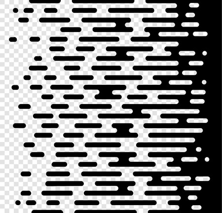Vector Halftone Transition Abstract Wallpaper Pattern. Seamless Black And White Irregular Rounded Lines Background for modern flat web site design.Vector illustration EPS 10.