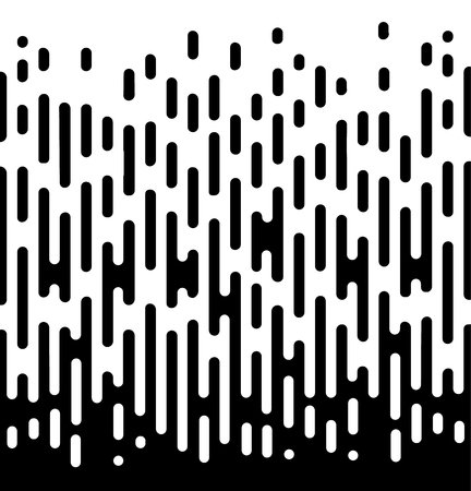 Vector Halftone Transition Abstract Wallpaper Pattern. Seamless Black And White Irregular Rounded Lines Background for modern flat web site design. - Vector