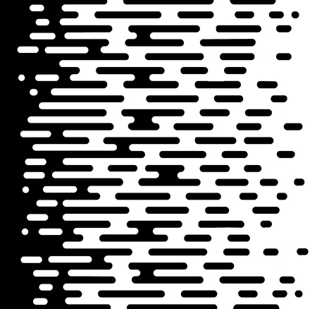 Vector Halftone Transition Abstract Wallpaper Pattern. Seamless Black And White Irregular Rounded Lines Background for modern flat web site design. - Vector Vektoros illusztráció