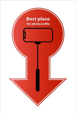 Allowed sign is the best place for selfie sticks camera Vector photography of a mobile phone smartphone is prohibited sign icon monopod selfie icon is allowed Take care to keep your hands in the shape