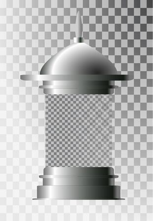 Cylindrical ad stand. Empty Blank Advertising Column Billboard Advertising Layout with free space for your design on a white background. Vector illustration in EPS 10.
