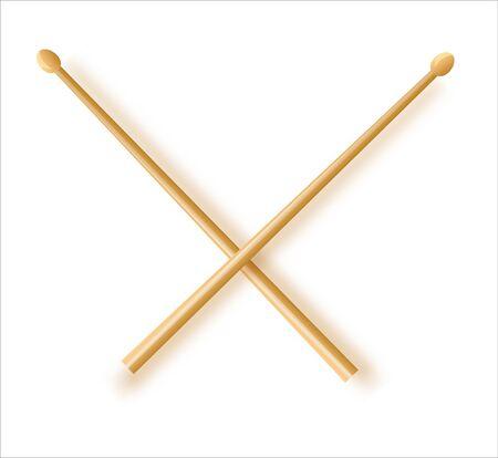 Drum sticks simple icon on white background 向量圖像