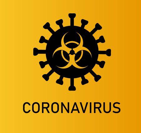 Coronavirus Bacteria Cell Icon, 2019-nCoV Novel Coronavirus Bacteria. No Infection and Stop Coronavirus Concepts.