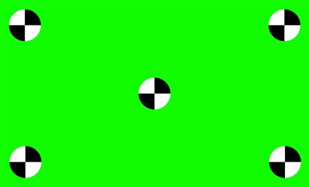 Green Screen With Tracking Motions Mark. Vector illusration