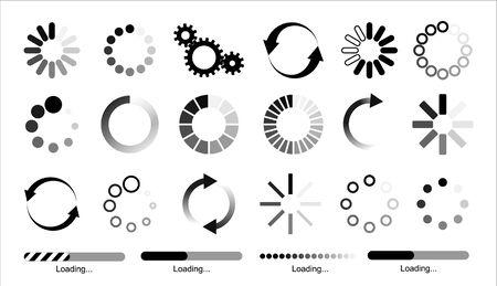 Load icon. Loading circle website buffer loader or preloader. Vector download or upload status icon .Vector illusration EPS 10 向量圖像