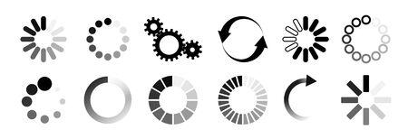Load icon. Loading circle website buffer loader or preloader. Vector download or upload status icon .Vector illusration EPS 10 矢量图像
