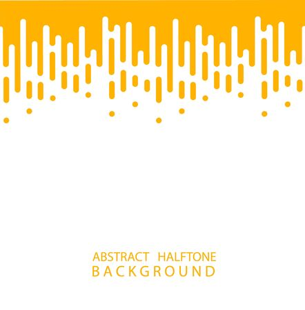 Abstract yellow Halftone Rounded Lines Halftone Transition. Vector Background. Abstract concept . Vector illusration EPS 10