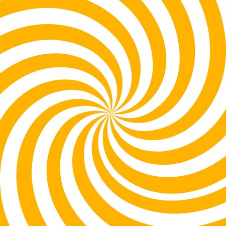 Hypnosis Spiral, concept for hypnosis, unconscious, chaos, extra sensory perception, psychic, stress, strain, optical illusion, headache, migraine. Yellow and white descending pattern. compatible. Иллюстрация