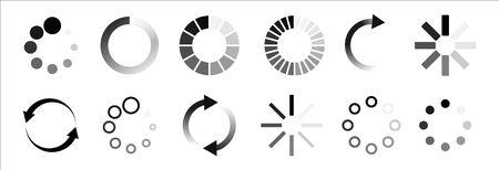 Load icon. Loading circle website buffer loader or preloader. Vector download or upload status icon