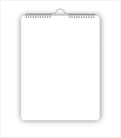 Cover Wall calendar mock up on a gray background. High resolution. 矢量图像
