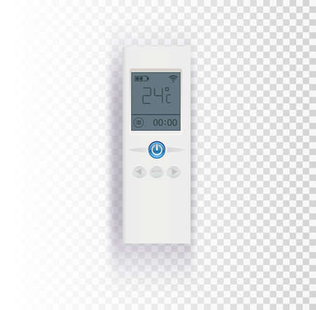 Air conditioner control panel on transparent background vector illustration.