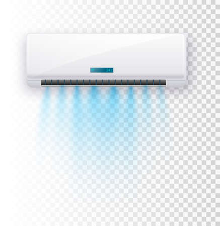 Air conditioner isolated. Vector illustration. Vector air currents