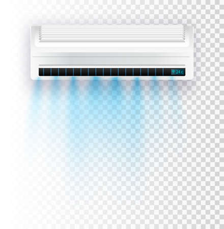Air conditioner isolated. Vector illustration  . Vector air currents