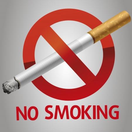 burn out: Niet roken pictogram Stock Illustratie