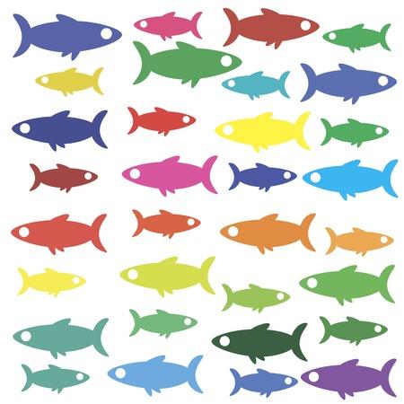 Fish icon wallpaper
