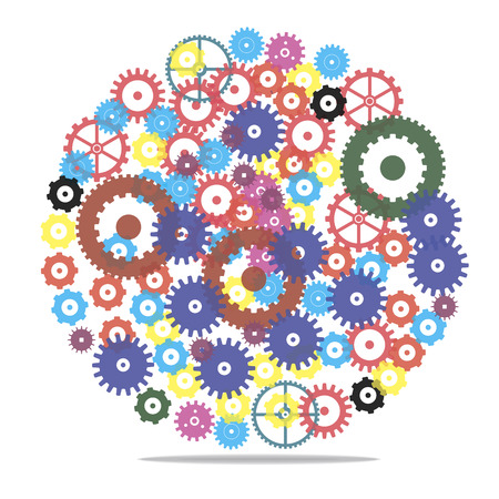 Vector clockwork gears Illustration