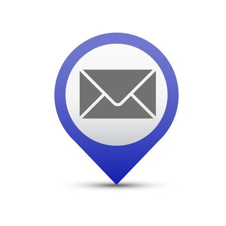 Vector button e-mail