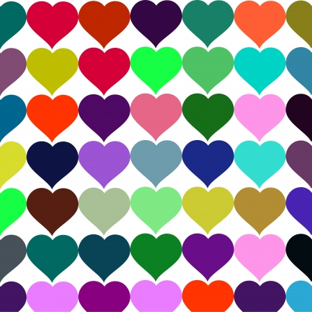 Vector background colorful hearts