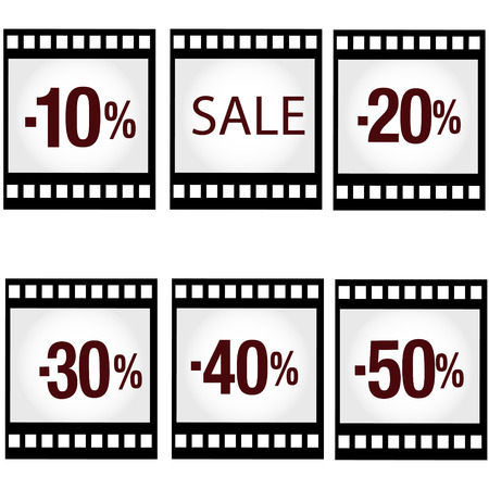 Sale photo and video products Illustration