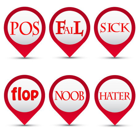 Vector buttons slang words Illustration