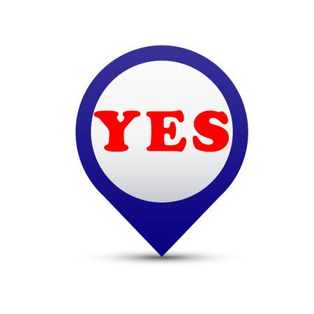 Vector button yes Stock Vector - 24544773