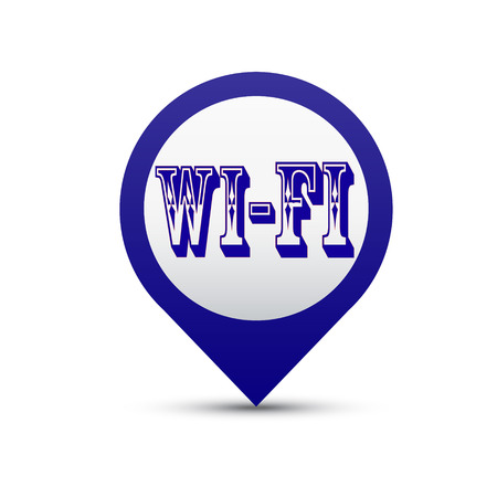 Vector button Wi Fi