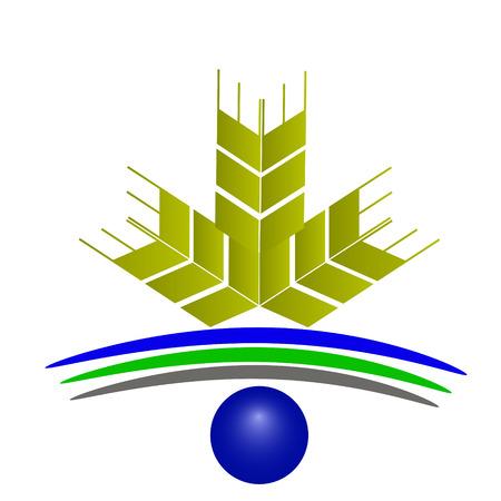 Vector logo wheat Illustration