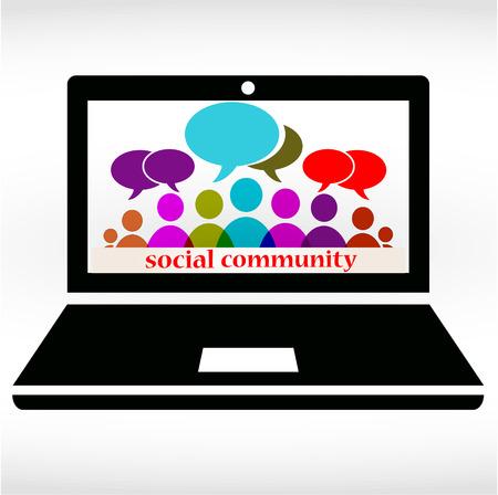 Social community chat Illustration