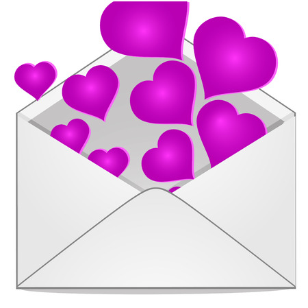 Illustration of a love letter Vector