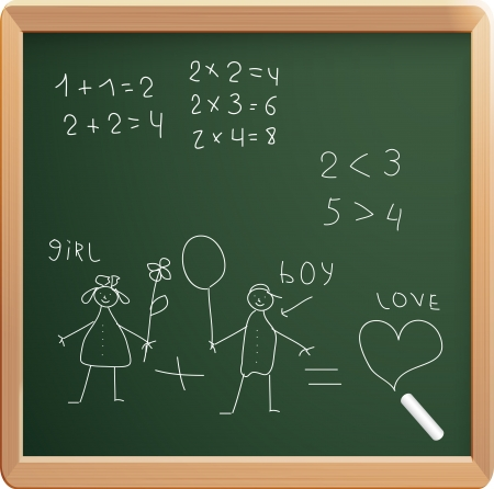 illustration of school black board Vector
