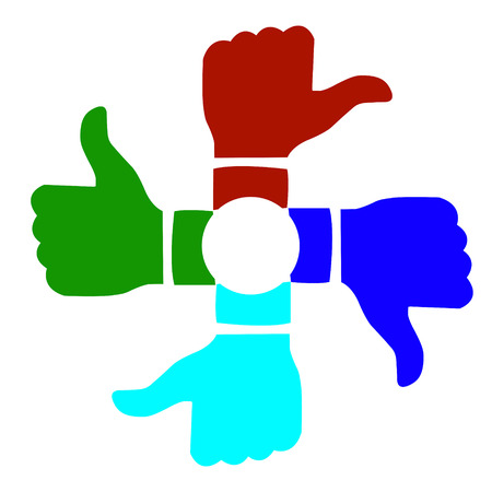 Thumbs up in a circle Illustration