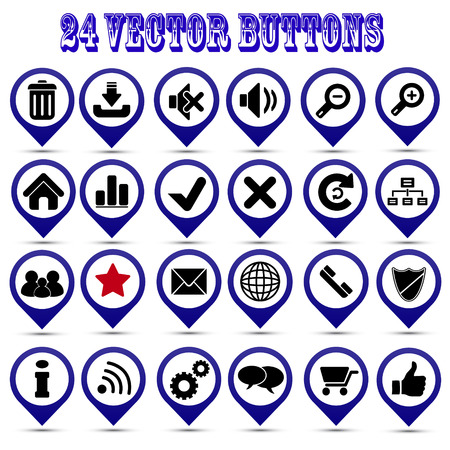 Collection of vector buttons Illustration