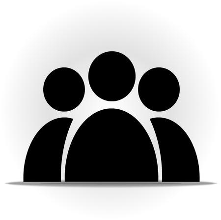 symbol people:  Illustration of symbol people silhouette