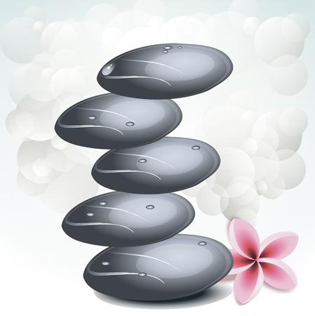 Vector background spa stones Illustration