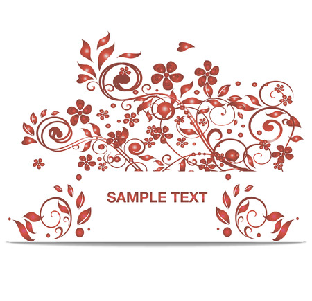 Vector bright red banner