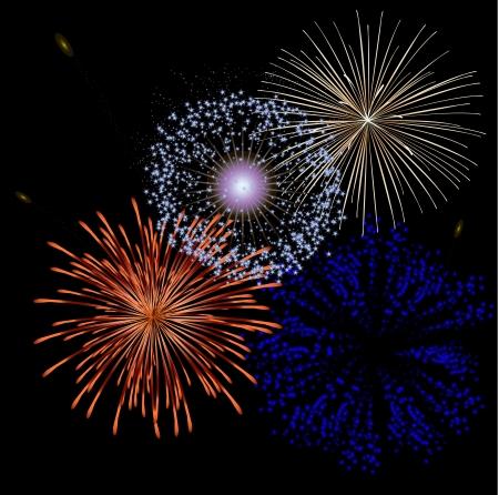 Festive Fireworks fireworks Illustration