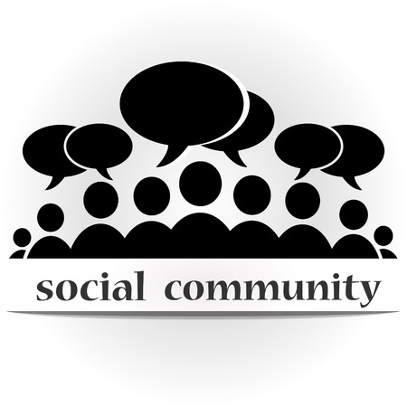 Social community forum Illustration