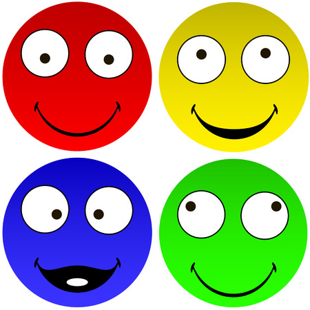 wit:  Funny emoticons illustration  Illustration