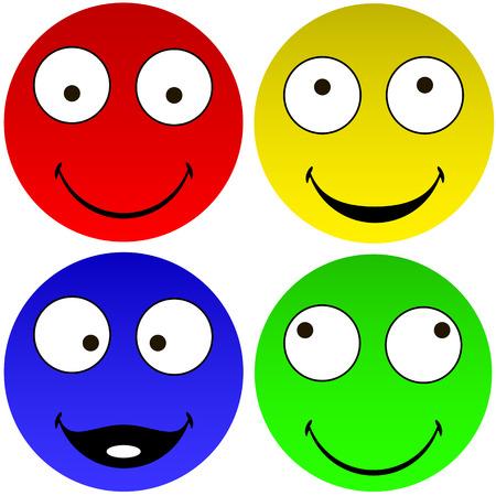 Lustige Emoticons Darstellung Vektorgrafik