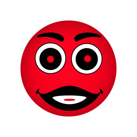 Red smiley illustration  Illustration