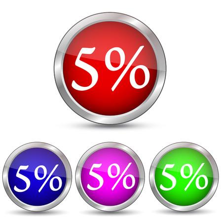 5 percent discount icon