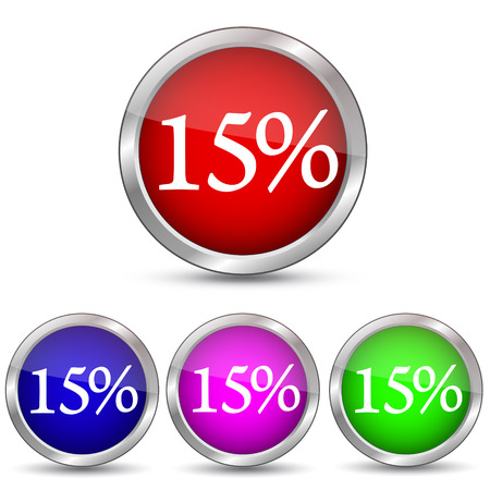 15 percent discount icon Illustration
