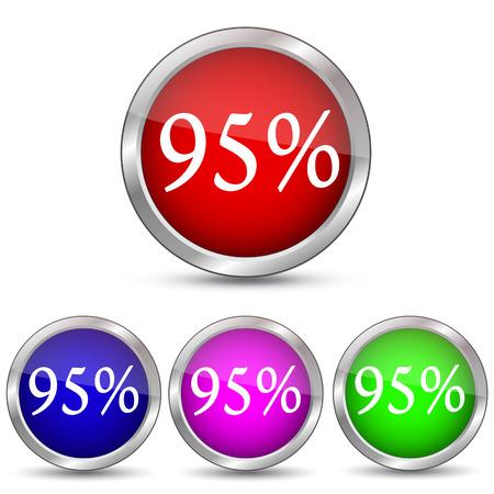 95 percent discount icon