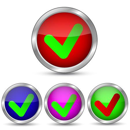 Vector button to confirm